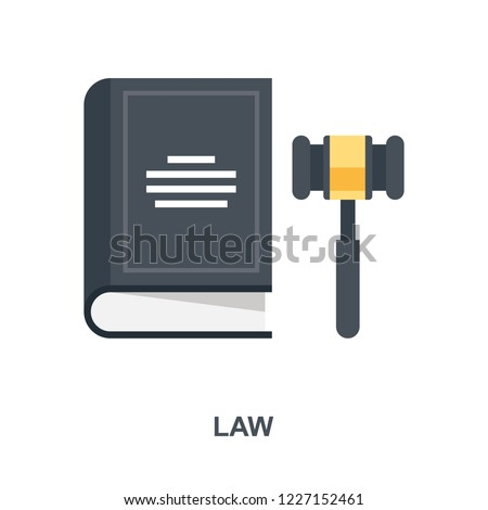 Vector illustration of law and justice flat design concept.