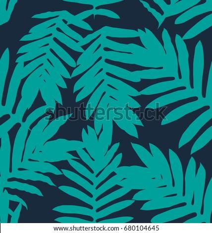 Vector Illustration of leaf seamless pattern