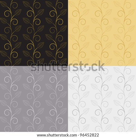 Vector illustration of leaves. (Seamless Pattern) can be used for scrapbooking