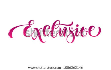 Vector illustration of lettering poster, logotype, text for clothes shop, catalog, collection, ad, special offer, accessories web site, item page. Banner for homepage, email, print, element of design #1086363146