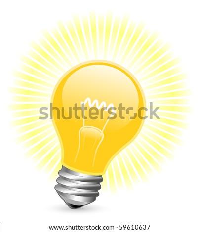 vector illustration of light