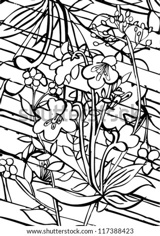 Drawings Of Flowers In Black And White Linear black & white roses