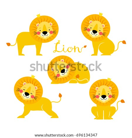 vector illustration of lion