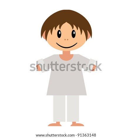 Vector illustration of little boy
