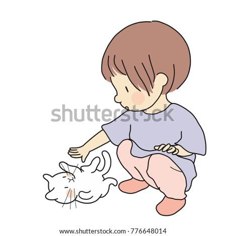vector illustration of little