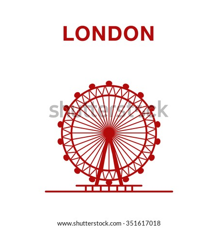 vector illustration of london