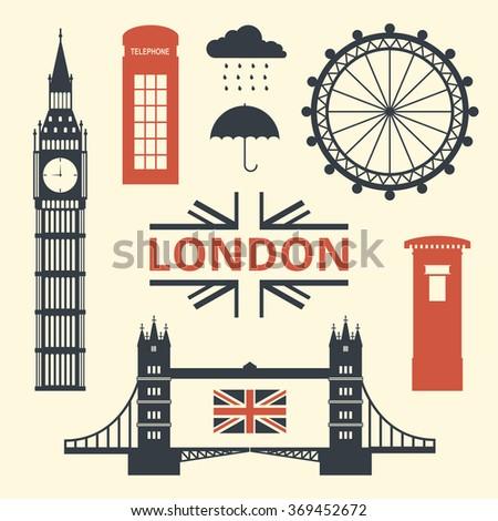 vector illustration of london