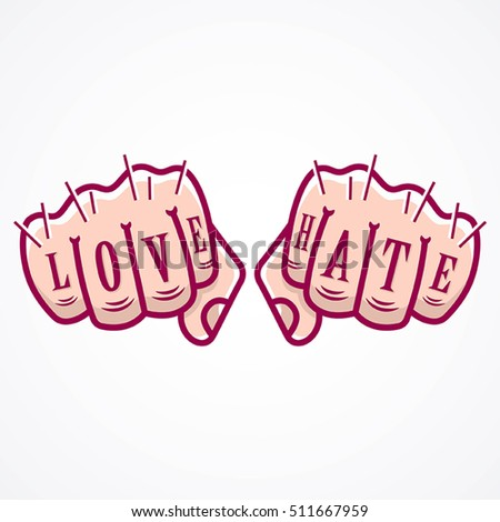 vector illustration of love and