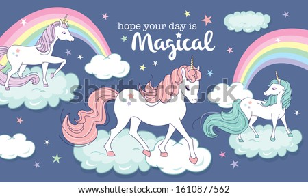 vector illustration of magical