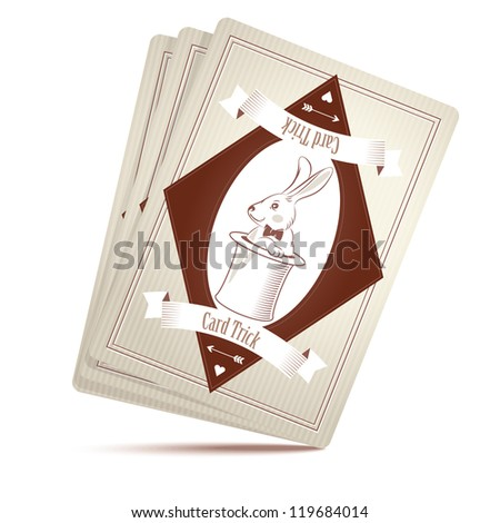 Stock Photo Vector illustration of Magician deck of cards