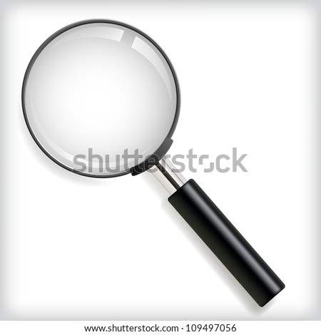 Vector illustration of magnifying glass.