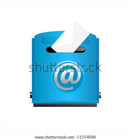 vector illustration of mailbox