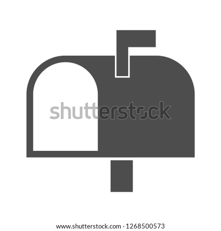 Vector illustration of mailbox icon