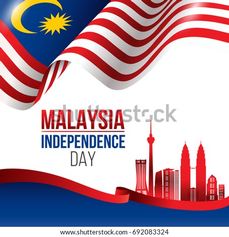vector illustration of malaysia