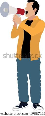 vector illustration of man