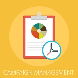 Vector illustration of management concept with word