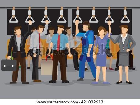 vector illustration of many