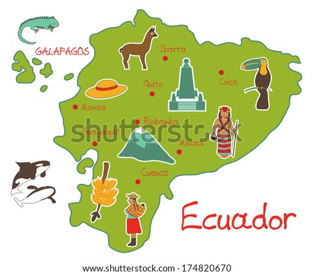 vector illustration of map of