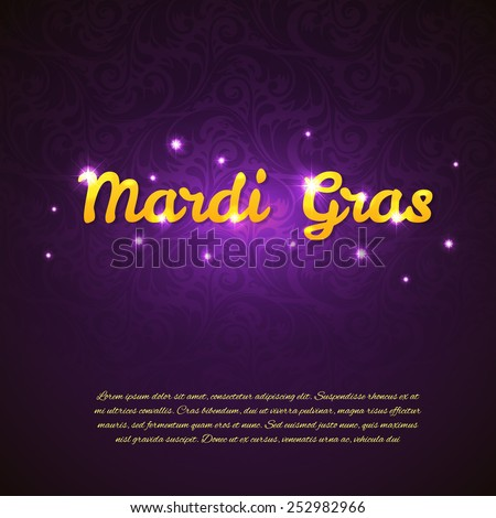 Vector illustration of Mardi Gras beauty background
