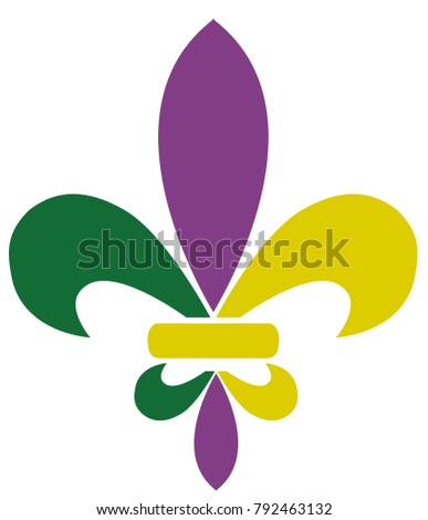 vector illustration of mardi gras fleur de lis.