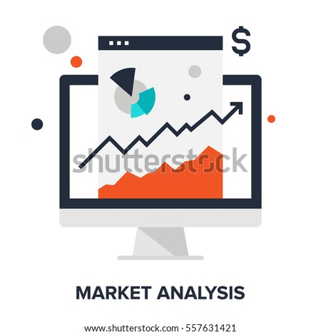 Vector illustration of market analysis flat design concept