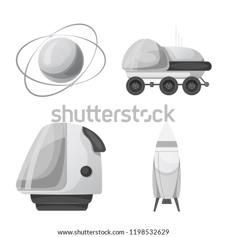 vector illustration of mars and