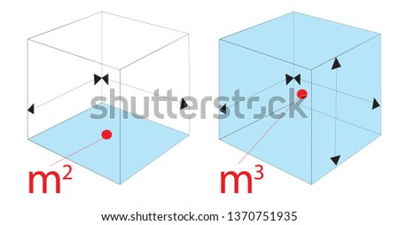 vector illustration of mathematical cube shape with colour