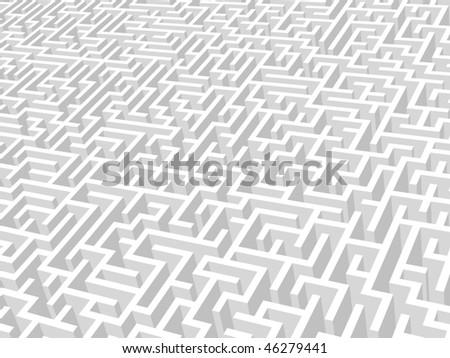 Vector illustration of maze.