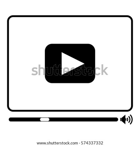 Vector Illustration of Media Player Icon in black