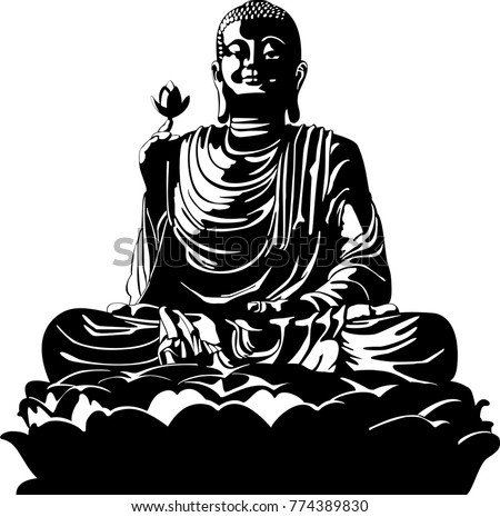 Vector Buddha Silhouette Download Free Vector Art Free