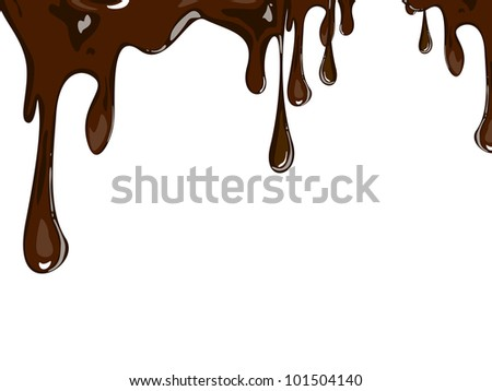Vector illustration of melting chocolate