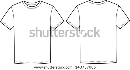 vector illustration of men's t