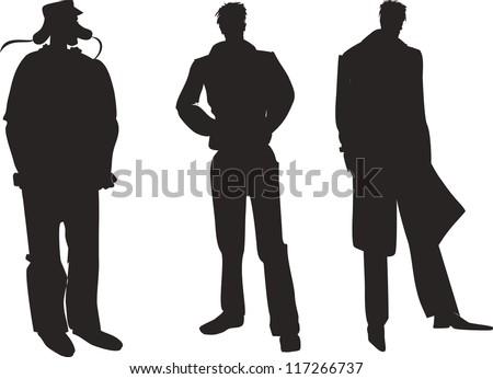 Vector illustration of men silhouette