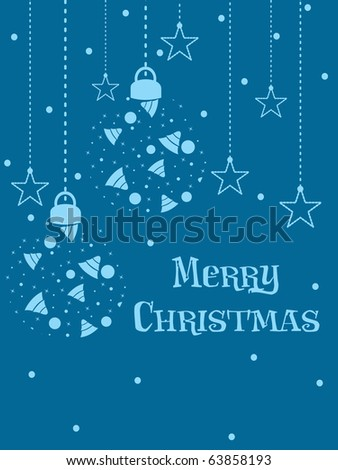 vector illustration of merry christmas celebration