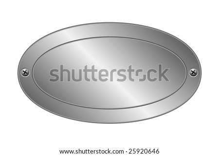 Vector illustration of metal plate