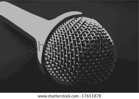vector illustration of microphone on dark background #17651878