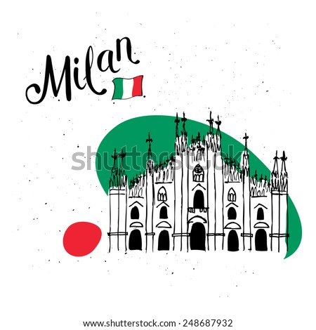 vector illustration of milan