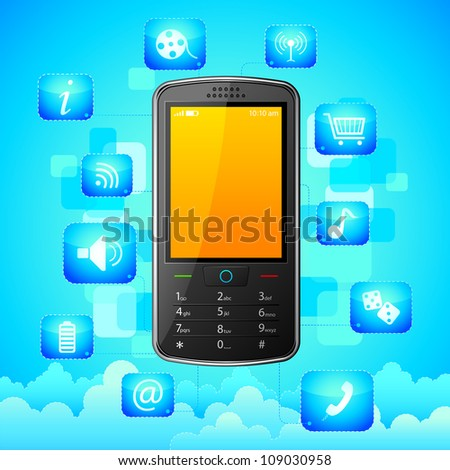 vector illustration of Mobile Phone Application
