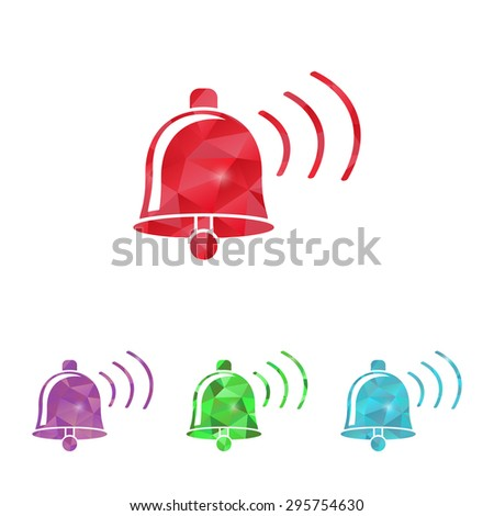 vector illustration of modern b lack icon bell