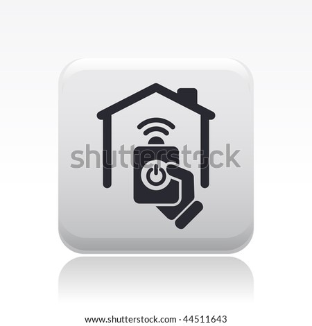 Vector illustration of modern black icon depicting a remote home