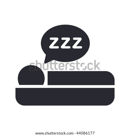 Vector illustration of modern black icon depicting sleep