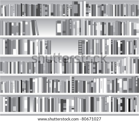 vector illustration of modern bookshelf