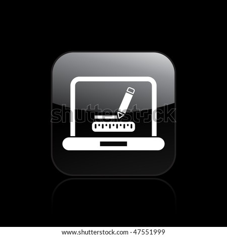 Vector illustration of modern glossy icon depicting a computer graphic measurement or design concept
