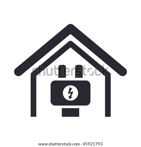 Vector illustration of modern glossy icon depicting a current in a dwelling
