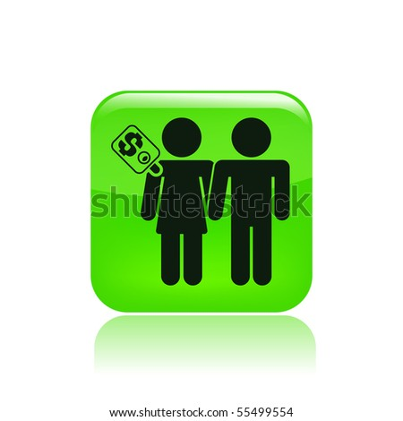 Vector illustration of modern glossy single isolated icon