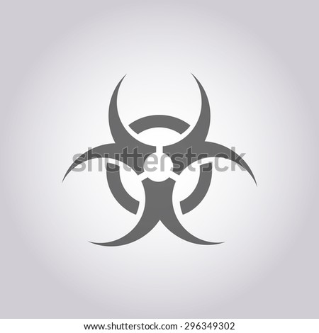 vector illustration of modern icon biohazard #296349302
