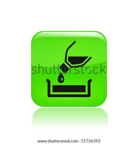 Vector illustration of modern icon depicting a bottle pouring liquid into a container