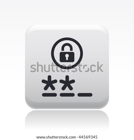 Vector illustration of modern icon depicting a login symbol