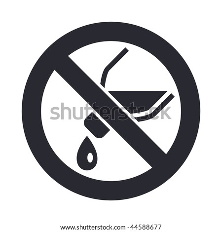 "Vector illustration of modern icon depicting a ""not pouring liquid"" signal"