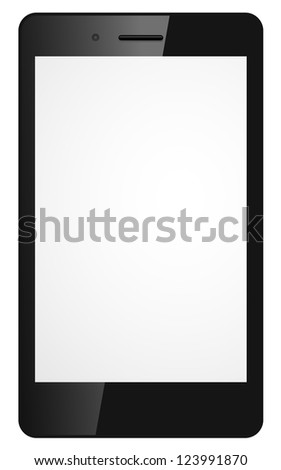 Vector illustration of modern mobile phone - stock vector